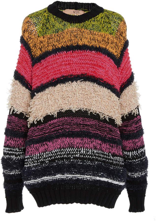 N°21 Striped Crewneck Sweater