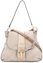 Chloé Lexa crossbody bag - women - Cotton/Calf Leather/Calf Suede - One Size