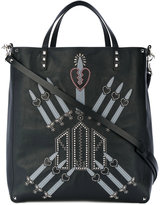 Valentino Garavani Valentino Rockstud Love Blade tote - men - Calf Leather - One Size