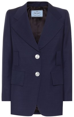 Prada Mohair-blend twill blazer