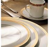 Christofle Malmaison Gold Salad Bowl