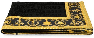 Versace Home Barocco trim bath towel