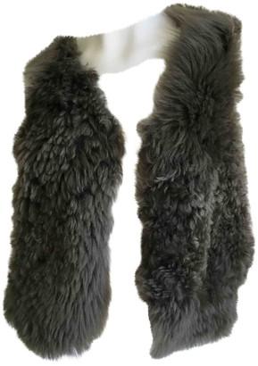 Bonpoint Grey Leather Jacket for Women