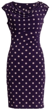 Connected Petite Polka-Dot Sheath Dress