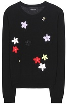 Simone Rocha Embellished Merino Wool, Silk And Cashmere Sweater