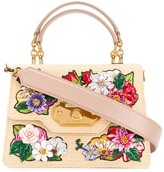 Dolce & Gabbana Welcome floral-embroidered tote bag