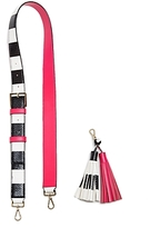 Kate Spade Tassel Key Fob Color Block Handbag Strap
