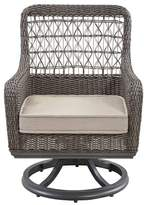 Paula Deen Dogwood Swivel Patio Dining Chair with Cushion (Set of 2 Home Color: Cast Ash