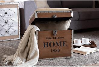 Design Studios Violetta Storage Trunk Ottoman