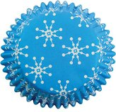 P.M.E. Snowflakes Paper Baking Cases for Cupcakes, Mini Size, Pack of 100