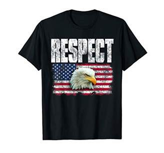 Respect the American Flag Bald Eagle T-Shirt