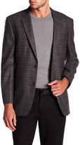 Kroon Bradley Herringbone Notch Lapel Two Button Wool Jacket