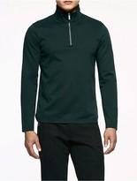 Calvin Klein Platinum Interlocked Quarter-Zip Shirt