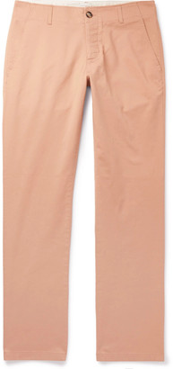 Sandro Slim-Fit Washed Cotton-Blend Chinos - Men - Pink