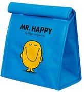 Mr Men & Little Miss Mr Men and Little Miss Mr Happy Lunch Bag, Blue