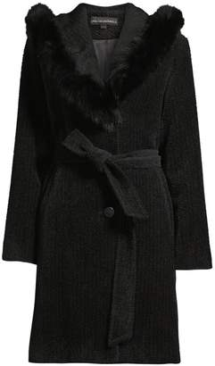 Sofia Cashmere Fox Fur Trim Jacket