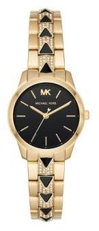 Michael Kors Runway Mercer Goldtone Stainless Steel Bracelet Watch