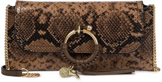 See by Chloe Joan snake-effect leather clutch