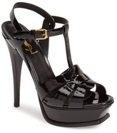 Saint Laurent Women's Tribute T-Strap Platform Sandal