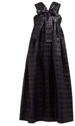 Cecilie Bahnsen - Riley Bow Front Sleeveless Midi Dress - Womens - Black