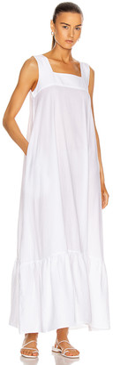 Natalie Martin Virginia Dress in Flat Cotton White   FWRD