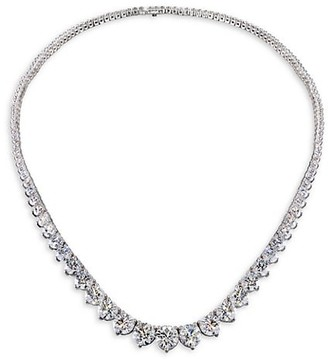 Hearts On Fire Temptation 18K White Gold Diamond 3-Prong Collar Necklace