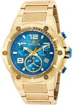 Invicta 19532 Men's Speedway Dial Yellow Gold Steel Bracelet Chronograph Watch