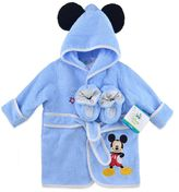 Disney Mickey Size 0-6M 2-Piece Terry Bathrobe and Booties Set