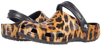 Crocs Classic Out of This World Clog (Toddler/Little Kid/Big Kid) (Leopard) Girl's Shoes
