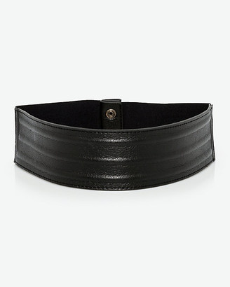 Le Château Faux Leather & Elastic Belt