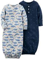 Carter's Baby Boy 2-pk. Whale & Anchor Print Sleeper Gowns