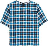 MSGM Checked woven cotton top