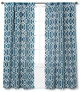 "Threshold Farrah Lattice Curtain Panel - Blue (54x84"")"