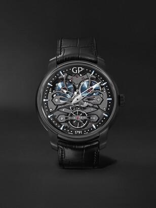 Girard Perregaux Neo Bridges Earth To Sky Automatic 45mm Titanium And Alligator Watch