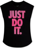 Nike Sleeveless Just Do It Graphic-Print T-Shirt, Toddler Girls (2T-4T) & Little Girls (2-6X)