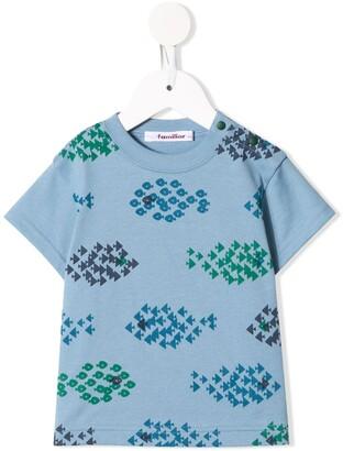 Familiar geometric-print cotton T-shirt