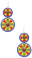 Miguel Ases Women's Double Circle Beaded Statement Earrings