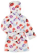 Petit Lem Girl's Printed Bath Robe