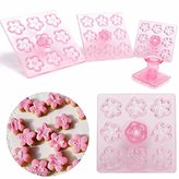 Buckdirect Worldwide Ltd. 4PCS Flower Cookie Cutter Fondant Cake Mold Press Mould Sugarcraft Baking Tool