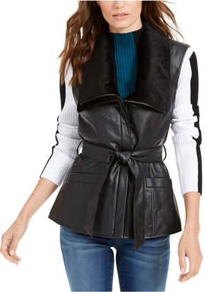 INC International Concepts Inc Faux-Leather Moto Vest