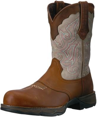 Durango Women's DRD0194 Western Boot Dark Brown/Cream 6.5 M US