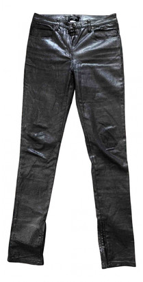 Chanel Silver Cotton - elasthane Jeans