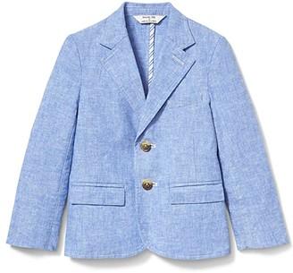 Janie and Jack x Rachel Zoe Linen Blazer (Toddler/Little Kids/Big Kids) (Blue) Boy's Jacket