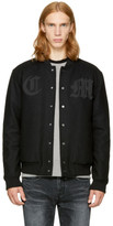 Marcelo Burlon County of Milan Black Nidawi Bomber Jacket