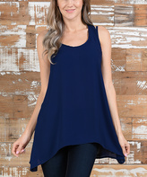 Navy Sidetail Tunic