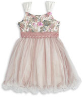 Iris & Ivy Girls 7-16 Glitter Floral Dress