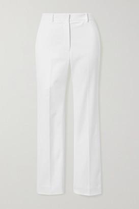Joseph Coleman Cropped Stretch-cotton Straight-leg Pants - White