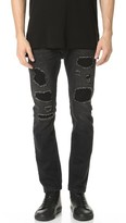 Helmut Lang MR 87 Destroyed Denim Jeans