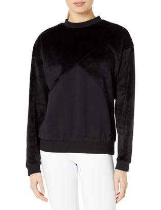 Puma Women's Fabric Block Crew Neck Sweatshirt