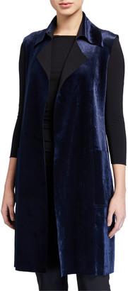 Chiara Boni Hana Belted Velvet Vest
